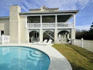 Private pool with views of porches at 1705 Atlantic Ave
