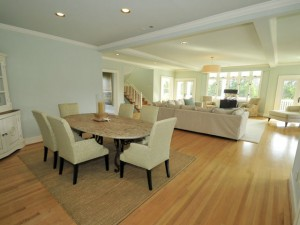 Light filled dining room and great room at 1705 Atlantic Ave