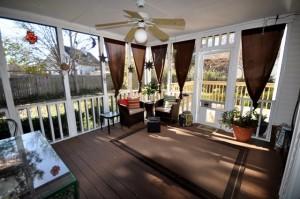 Screen porch at 95 Blairmore Drive, Charleston, SC