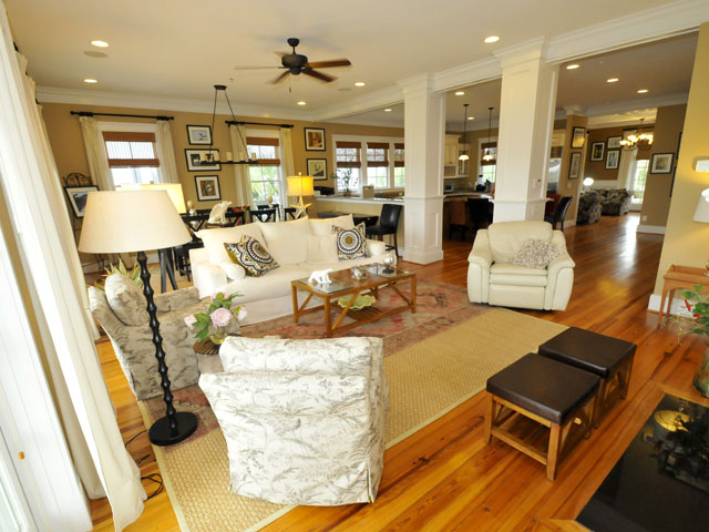 Living room at 104 Palm Boulevard