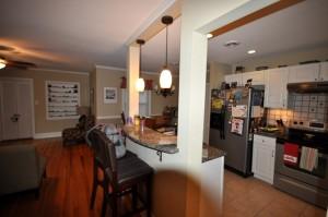 Kitchen & living room at 1224 Ravenel