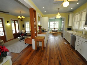 Kitchen and living room at 2002 Gull Drive
