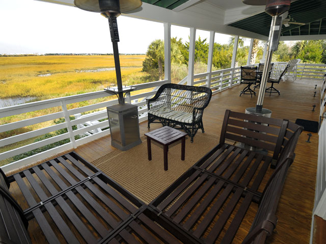 Back deck at 2002 Gull Drive