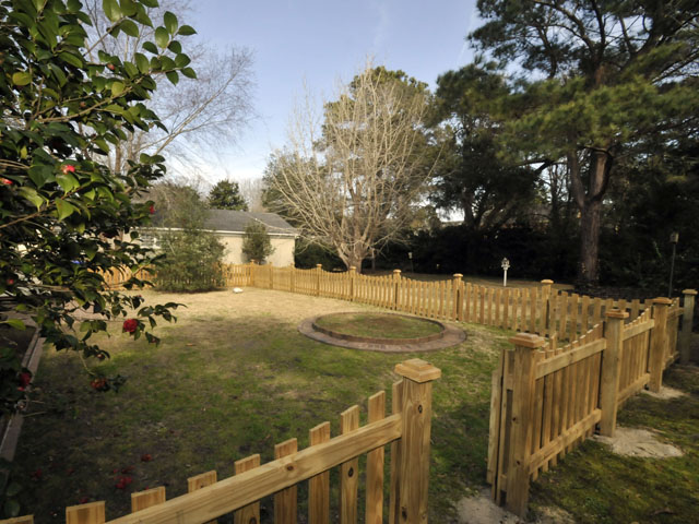 Backyard at 17 Palmetto Road
