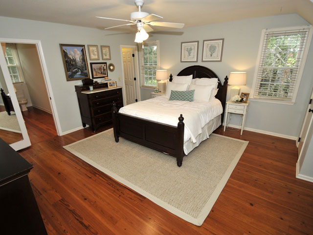 Master bedroom at 610 Hobcaw Bluff Drive