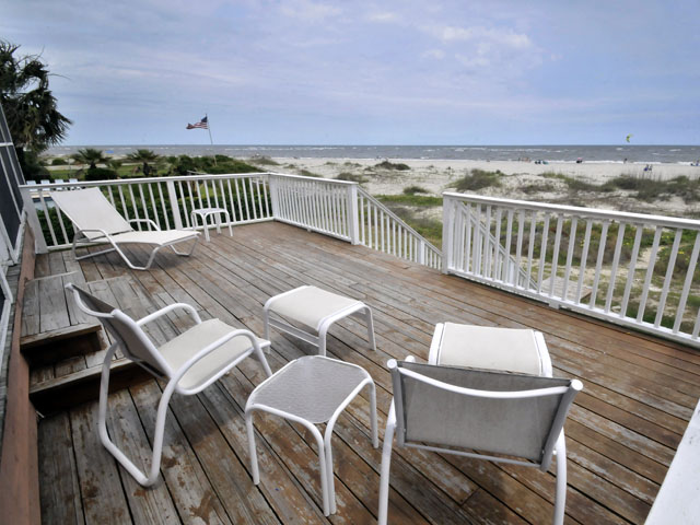 Ocean front deck at 2863 Marshall